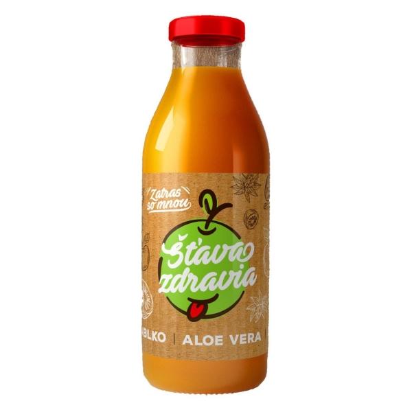 EkoMedica 100% šťáva Jablko + Aloe + Kiwi