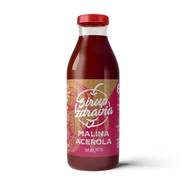 EkoMedica Sirup zdravia Malina + Acerola 300 ml